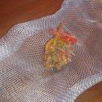 Aceituna en témpura, liquida por dentro