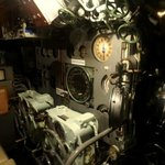 Le sous-marin Espadon (salle des machines)