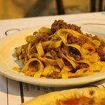 the bland, soggy, worst tagliatelle bolognese i ever tasted