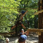 "Sapling zip course for the ""little guys/girls"""