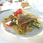 Sauteed sea bream at the Cafe Americain