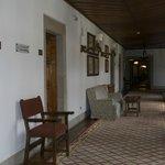 pasillos de distribución a las habitaciones
