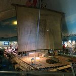 The actual Kon-Tiki balsa wood raft