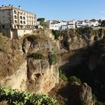 View of Parador Ronda - on left at top of cliff