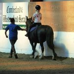 First riding lesson