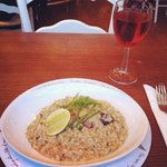 My favourite crab risotto with lime and parsley