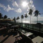 Vista da Praia do deck do hotel