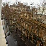 Vista do quarto do hotel no 8° andar