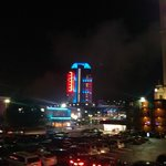 Casino at night across from Brst Western Niagara Fallsview