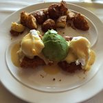 Crab Cake Benedict with Fresh Avacado