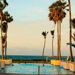 Pool having ocean view