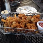 Fried local clams