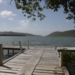 The small pier in the back of the parador, with views of the Guanica Bay