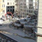 Trevi Fountain Under Maintenance