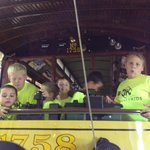 Journey Kids Kittanning Salvation Army playing on the trolleys!
