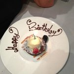 No dessert was ordered, but they knew it was my birthday...very special!