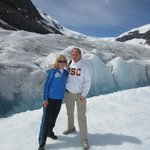 visiting the glacier