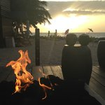 Sunset and Fire and Coconuts!