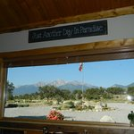 View of Mt Princeton from the kitchen/dining room.