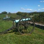 Cannon on battlefield
