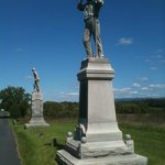 Two of three soldiers monuments