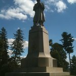 Towering monument at Antietam National Cemetery