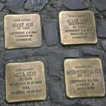 Plaques remembering the victims of nazism placed in front of where they lived
