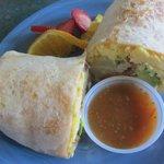 Breakfast Huevos Rancheros Burrito