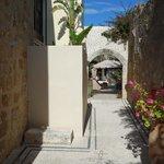 walkway to courtyard