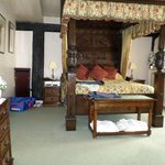 The bedroom area of Catherine of Aragon Suite