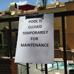 You never know when the pool will be shut down...