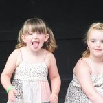 Grandaughters having a lovely time
