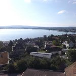 View from our balcony looking towards Zug