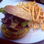 Burger mit Kräuterseitlingen