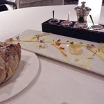 Complimentary breads with a variety of salts accomponied