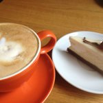 Latte' and cheesecake!