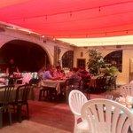 El Amigo outdoor dining area.