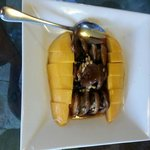 Mango vs mushrooms. Seem eating vegetarian.