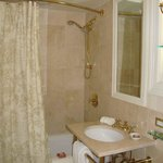 Our small bathroom in our superior room