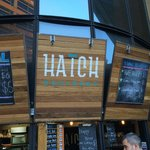 Hatch - outside the hotel entrance for great weekday morning coffee