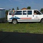 Their recovery van.