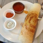 My favourite Indian pancake (dosa) at the Trident