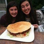 full size schnitzel burger
