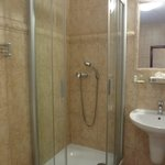 Standard size shower cubicle