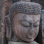 Magnificent Buddha head in Monastery 1