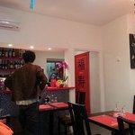 Inside the little Restaurant