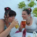 Enjoying a nice pint 👍