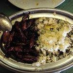 Chipirones con arroz en su tinta