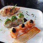Assiette saumon et crevettes