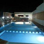 pool at night...